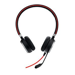 Jabra Evolve 40 MS Stéréo - Casque duo Jack et USB-C filaire - Noir