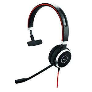Jabra Evolve 40 UC Mono - Casque duo Jack et USB filaire - Noir