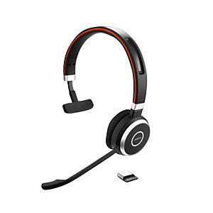 Jabra Evolve 65 MS Mono - Casque sans fil Bluetooth - Noir