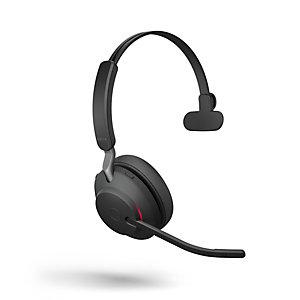 JABRA Evolve2 65 MS Mono - Casque sans fil Bluetooth - Dongle USB-C - Noir