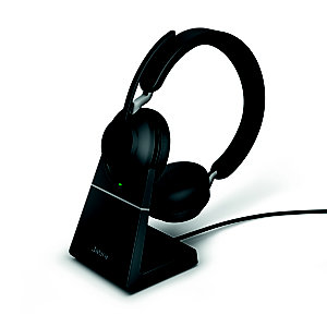 JABRA Evolve2 65 MS Stéréo - Casque sans fil Bluetooth + Station de recharge - Dongle USB-C - Noir