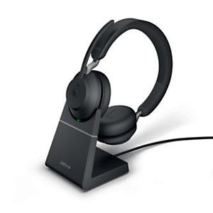 Jabra Evolve2 65 MS Stéréo - Casque sans fil Bluetooth + Station de recharge - Noir