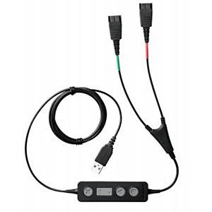 Jabra Link 265, USB2.0, Macho, 2x QD, Macho, Negro 265-09