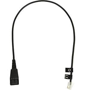 Jabra QD cord, straight, mod plug, 0,5 m, QD, RJ10 8800-00-01