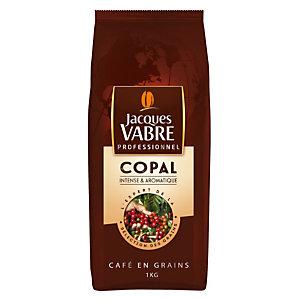 JACQUES VABRE Café en grains Copal, mélange arabica et robusta - Paquet 1 kg