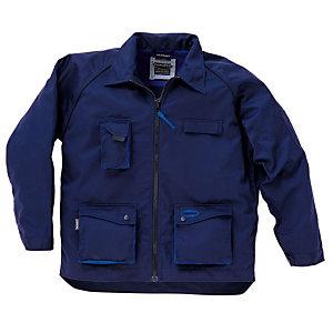 Jas Premium  marineblauw/koningsblauw maat 5