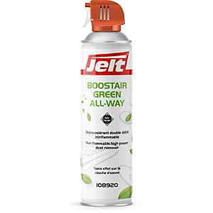Jelt® Aérosol de dépoussiérage Boostair Green All Way, toutes positions - 300 g