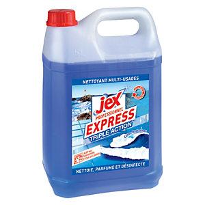 Jex Nettoyant multi-usages désinfectant Triple Action Parfum Côtes bretonnes - Bidon de 5 L