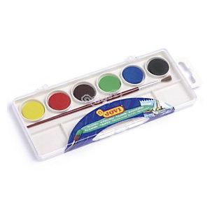 JOVI Acuarelas, estuche de plástico, 6 colores