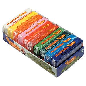 JOVI Plastilina, bandeja con 10 pastillas de 50 gr, colores surtidos