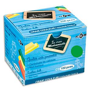 JPC Boîte de 100 craies anti-poussière coloris Vert