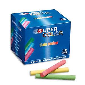 JPC WONDAY Boîte de 100 Craies anti-poussière coloris assortis