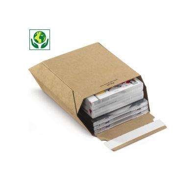 Karton-Versandtaschen Maxi mit Haftklebeverschluss