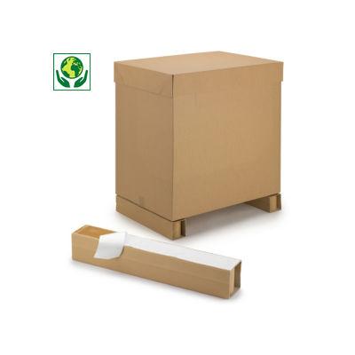 Kartonfüße mit Haftklebestreifen