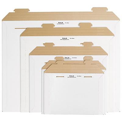 Kartonkuvert med selvlåsende lukning RAJAMAIL - Hvid