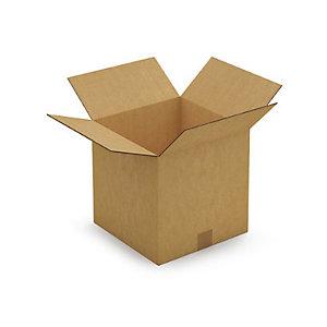 Kartonnen doos in dubbelgolf 30x30x30 cm
