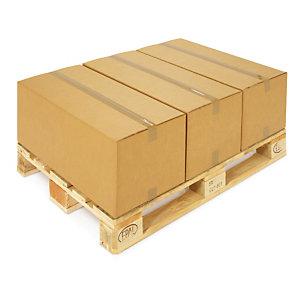 Kartonnen doos in dubbelgolf 65x45x40 cm