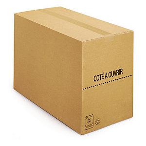 Kartonnen doos in enkele golf 60x40x40 cm, per set van 20