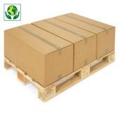 Kartonnen dozen in dubbelgolfkarton van 60 tot 80 cm