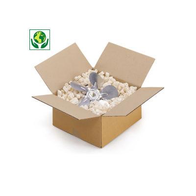 Kartonnen dozen in enkelgolfkarton van 10 tot 30 cm
