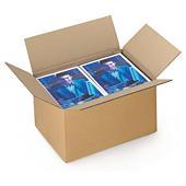 Kartonnen dozen in enkelgolfkarton van 40 tot 50 cm