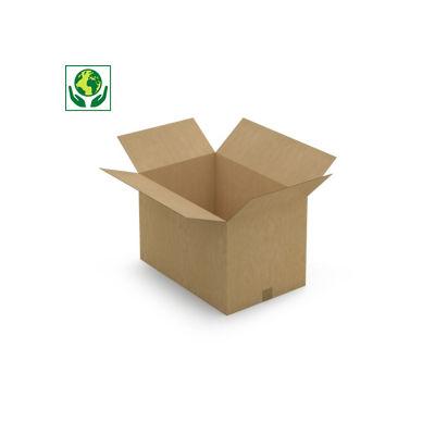 Caisse carton Rajabox simple cannelure brune de 50 cm et plus##Kartonnen dozen in enkelgolfkarton vanaf 50 cm