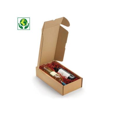 Boîte postale carton Rigibox pour 2 bouteilles##Kartonnen dozen Rigibox