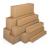 Kartonnen dozen Teckelbox met toegang aan de lange zijde in bruin dubbelgolfkarton