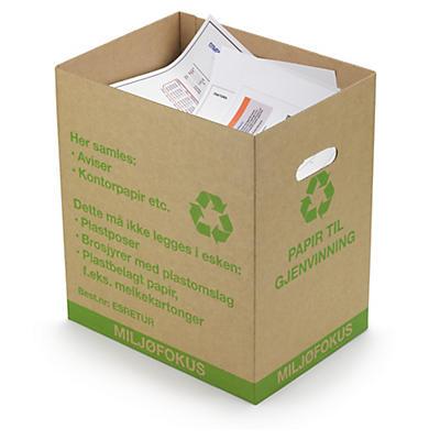 Kasse til brugt papir