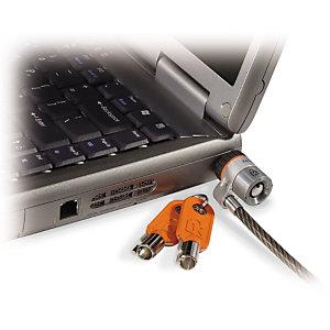 Kensington Cable de seguridad MicroSaver® con llave para ordenadores portátiles, 1,8 m, Llave redonda, Acero, Negro, Gris 64020
