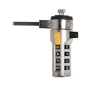 Kensington Candado de combinación para portátil WordLock®, Gris, Cerradura con combinación, Registro de código/combinación, Barra en T, Acero, 1,83 m, 110 g K64684EU
