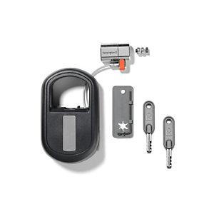 Kensington Candado retráctil para portátiles con llave ClickSafe®, Negro, Gris, Llave redonda, Acero, 1,22 m K64955WW