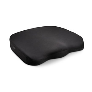Kensington Cuscino ergonomico in memory foam, 355 x 74 x 390 mm, Nero