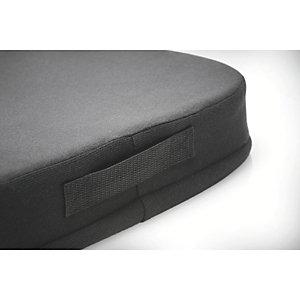Kensington Cuscino ergonomico in memory foam, 355 x 74 x 390 mm, Nero