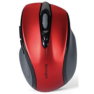 Kensington Pro Fit Ratón óptico inalámbrico, rojo