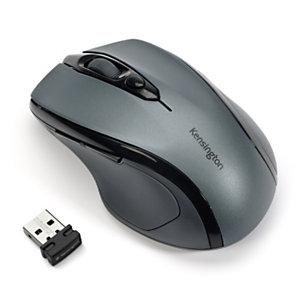 Kensington Pro Fit®, souris sans fil, taille moyenne, avec Nano récepteur USB - 2.4 GHz - gris anthracite