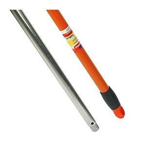 KH-7 Palo de escoba/fregona/mopa de aluminio con rosca universal y pasador, 140 cm
