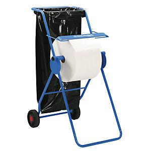 Kimberly-Clark Professional Dispensador autónomo de papel limpiador grande con 2 ruedas acero azul