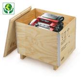 Kist in multiplex met houten onderstel