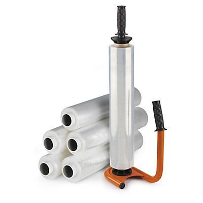 Kit 6 bobinas film estirable transparente RAJASTRETCH + portarrollos de acero