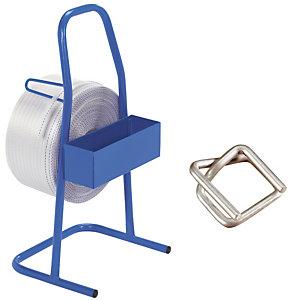 Kit de cerclage avec feuillard textile 850m, largeur 16 mm