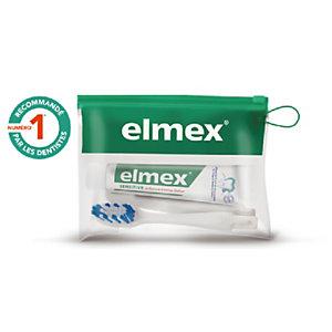 Kit dentaire de voyage Sensitive Elmex, brosse à dents + dentifrice 20 ml
