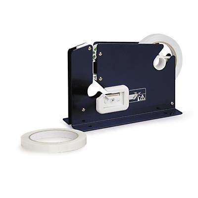 Kit máquina de fechar sacos + 24 rolos de fita adesiva PVC 33 mícrones