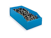 Kit med 100 blå plukkasser i polypropylen