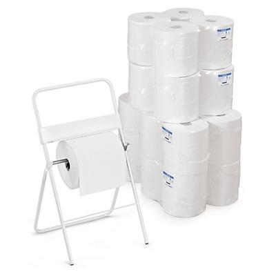 Kit med hvidt aftørringspapir og stativ