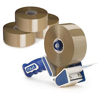 Kit med PP pakketape med ekstra længde + dispenser