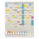 Kit planning annuel 12 colonnes + Fiche T supplémentaires NOBO