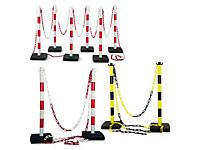 Kit poteaux de balisage en PVC + chaîne