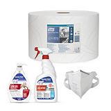 Kit professionale di sanificazione e igienizzazione con mascherine