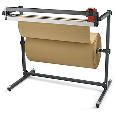 Kit rolo de cartão canelado 250g/m² + porta-rolos